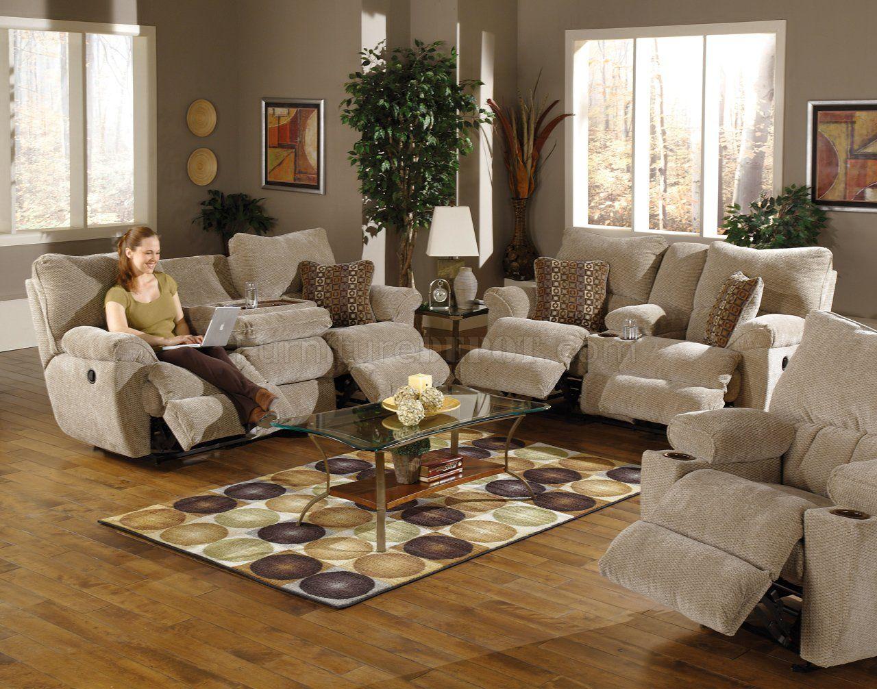 Great Reclining Microfiber Sofa And Loveseat Set