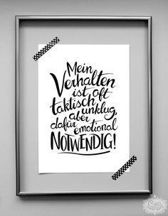 handlettering - NOTWENDIG\' DinA 4 Typo Druck | Pinterest | Zum ...
