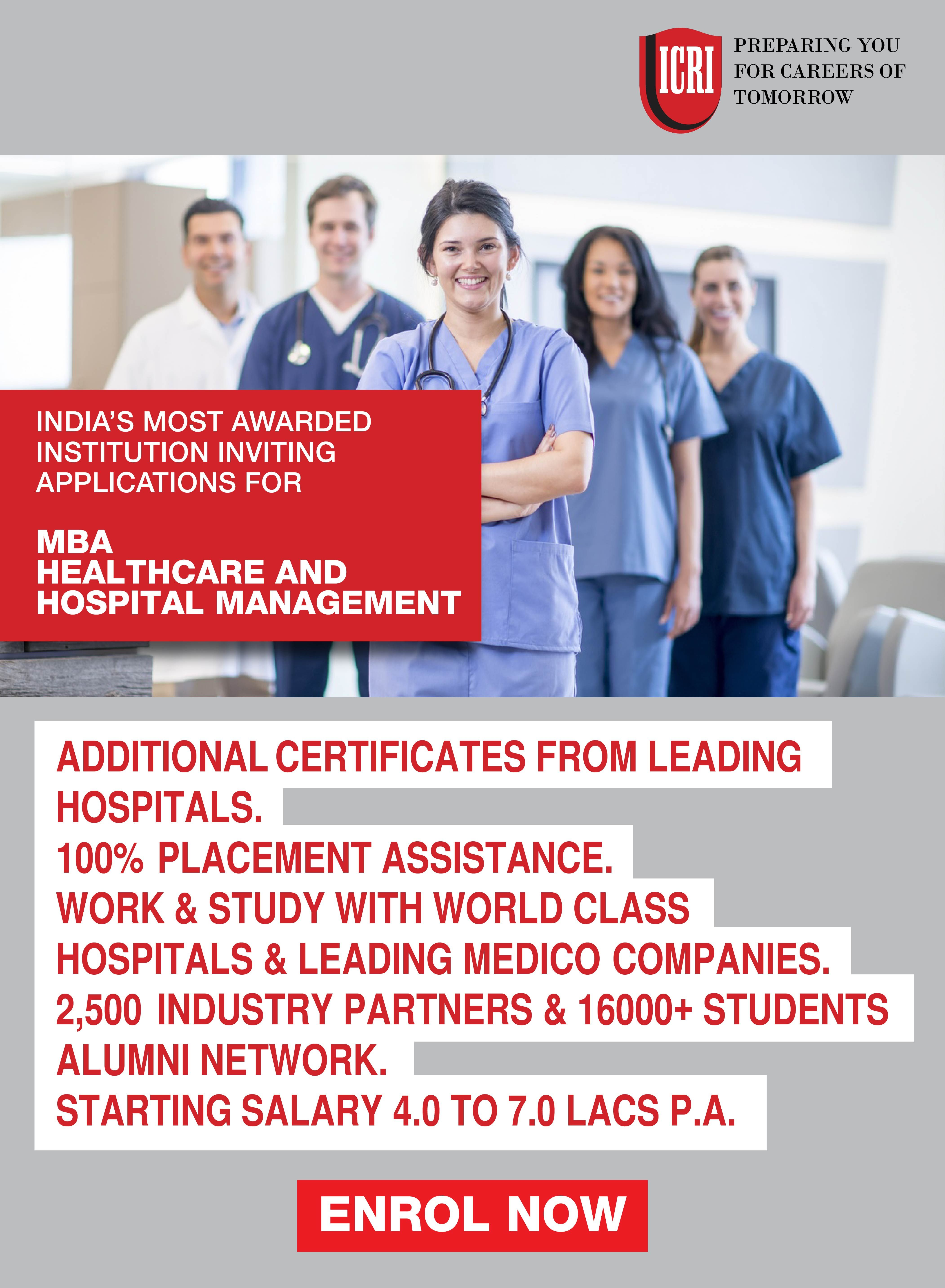 Join Industry Oriented Mba Healthcare Hospital Management Admissions Open All Life Science M