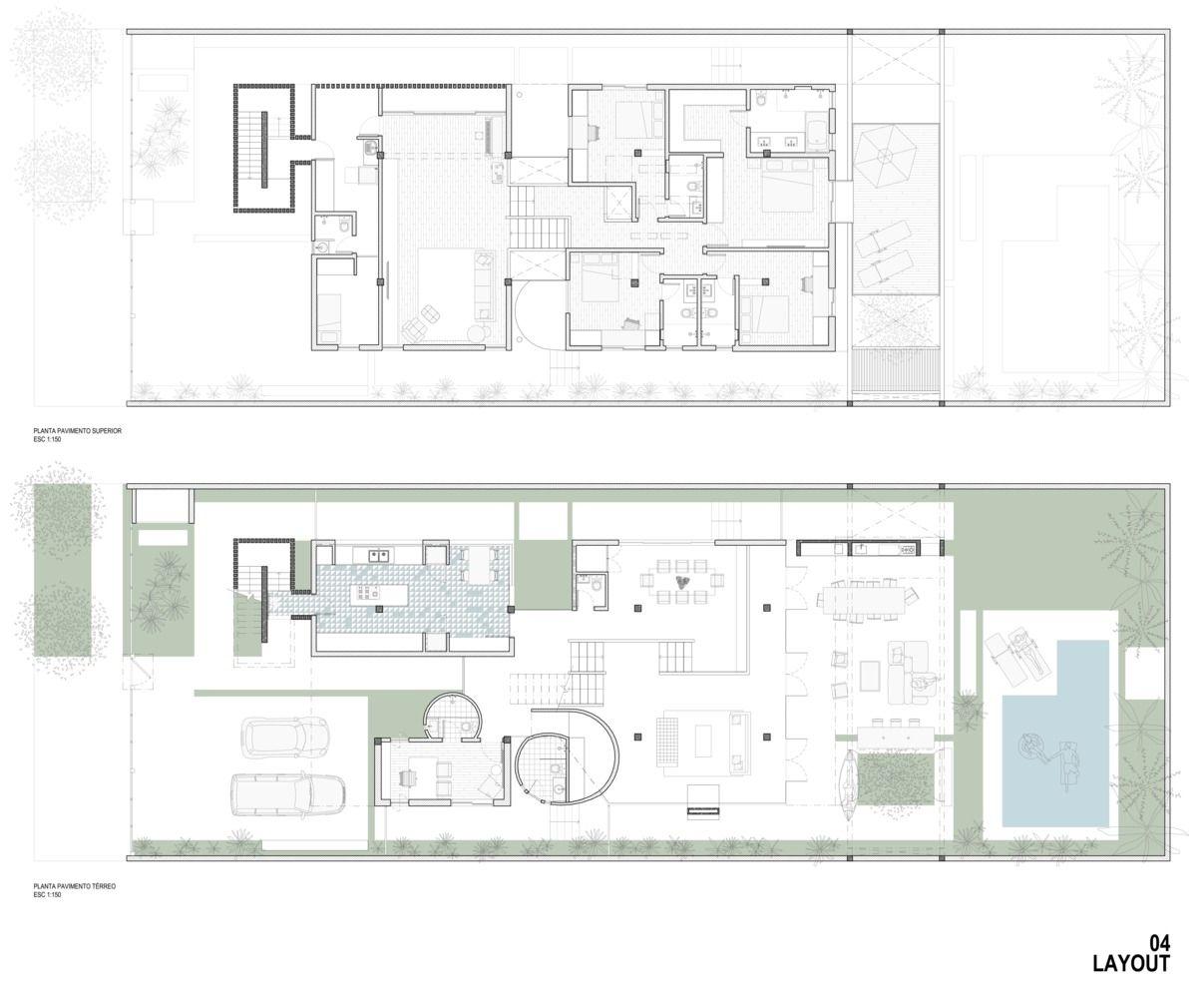 Galeria De Casa Am Coa Associados 25 In 2020 Floor Plans House House Plans