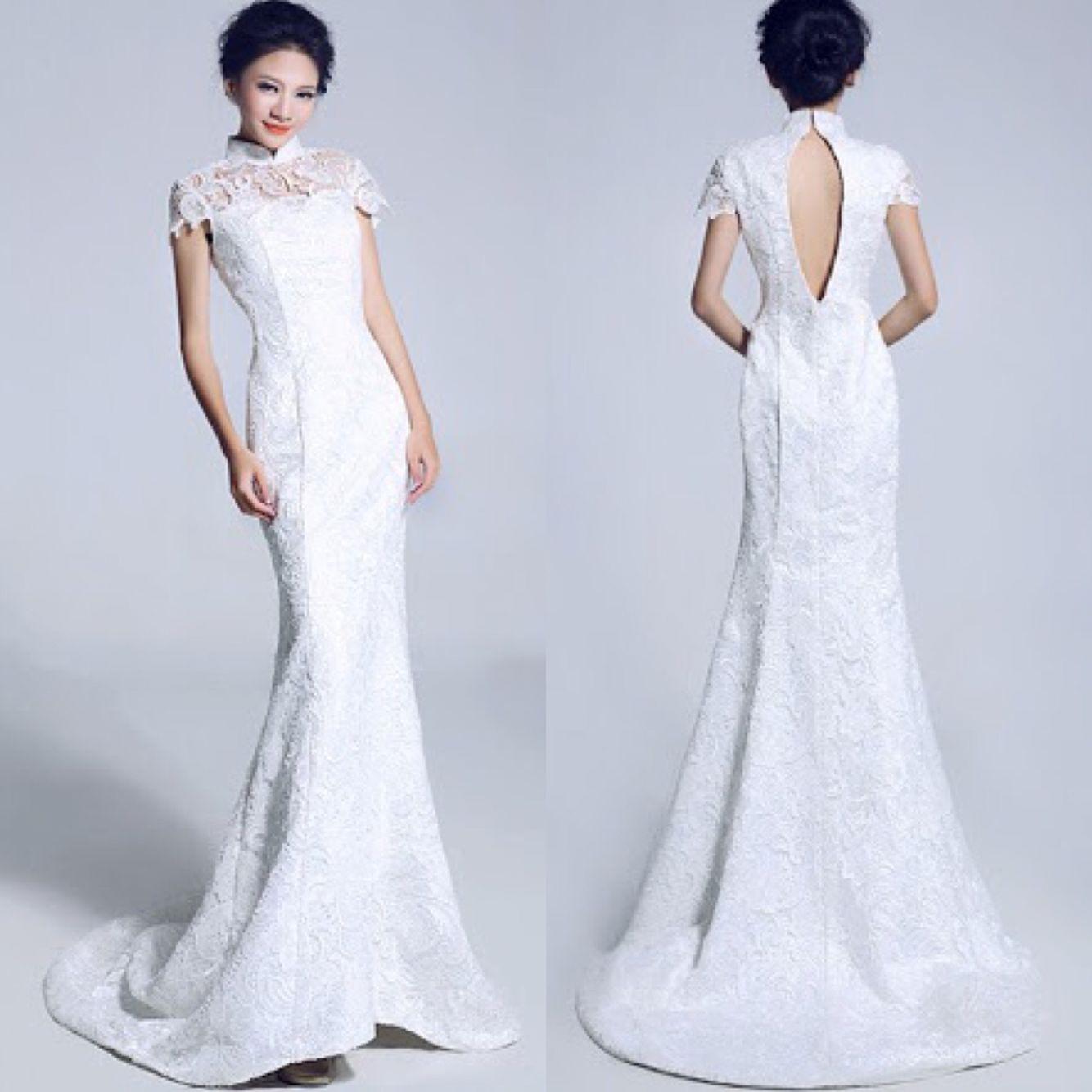 White chinese wedding qipao my chinesejapanese wedding