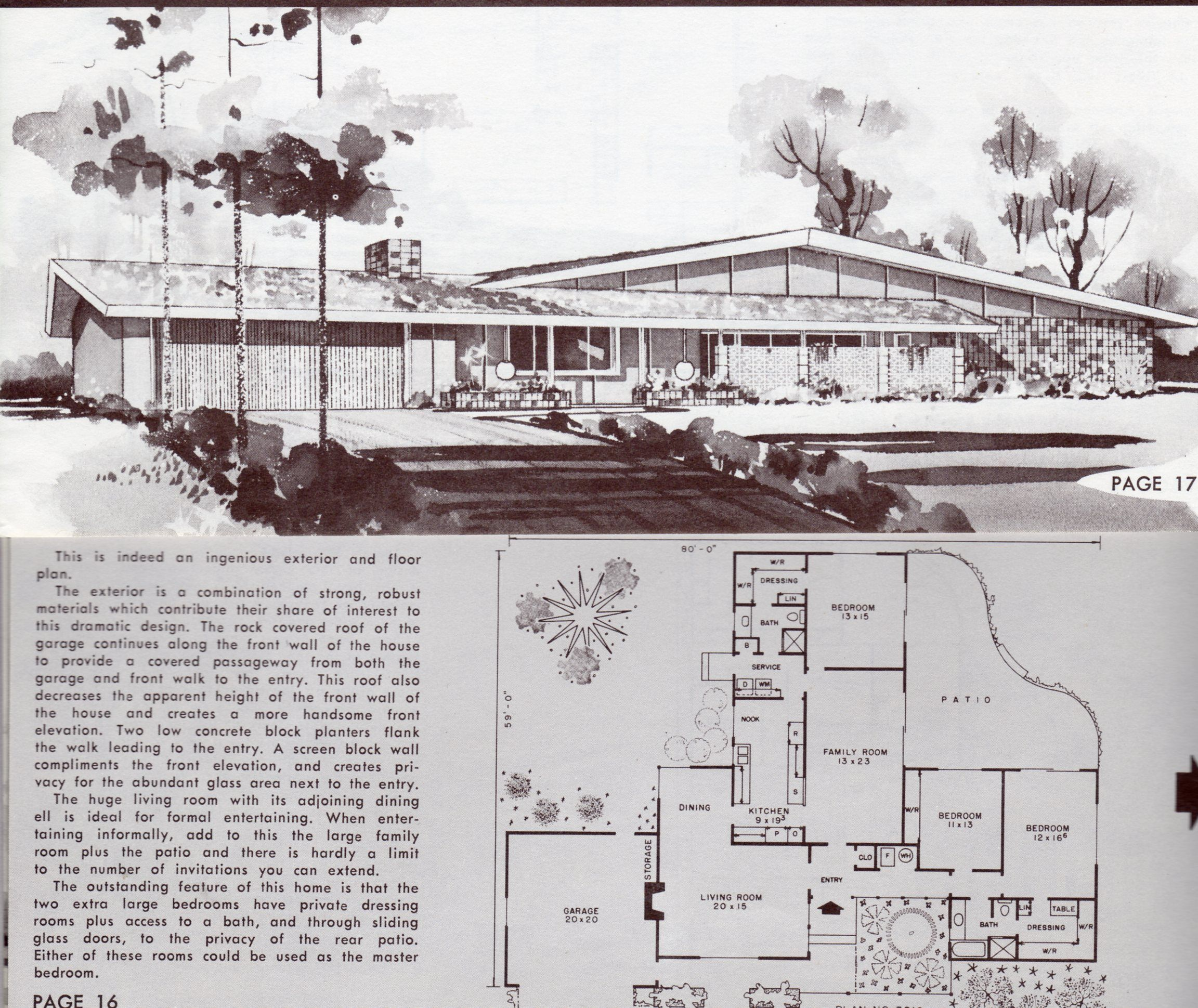 Ranch House Plans From The 1960s Google Search House Plans With Pictures Mid Century Modern House Plans Vintage House Plans