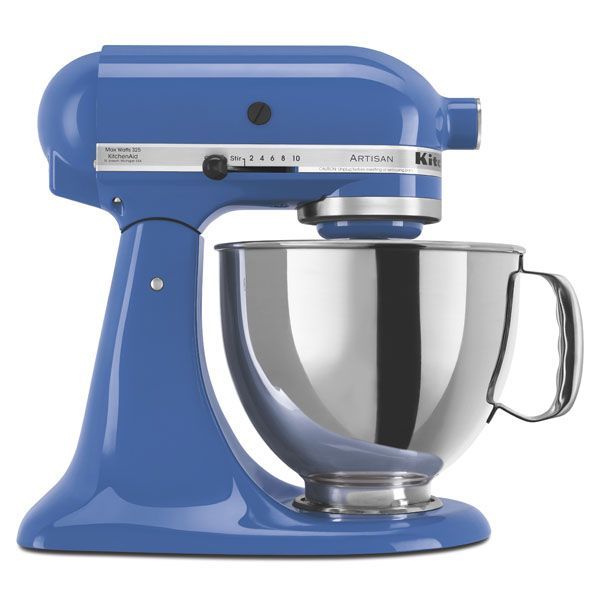 KitchenAid Refurbished Artisan Series 5 Qt. Stand Mixer - RRK150RB on blue willow toaster, blue kitchen art, blue sleep aid, blue wedgewood, blue estate,