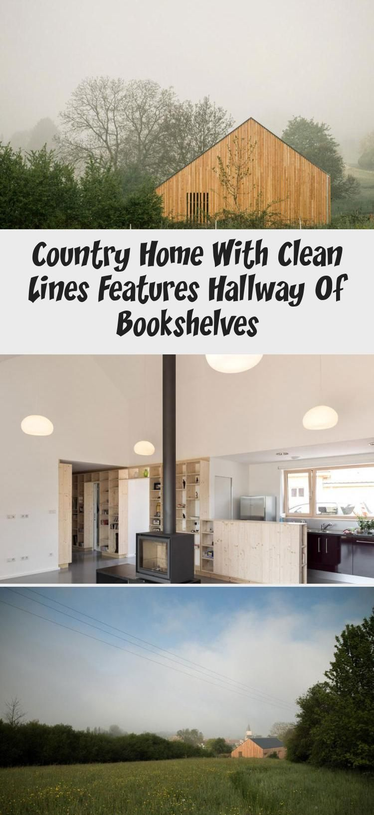 Country Home With Clean Lines Features Hallway Of Bookshelves #hallwaybookshelves Country Home with Clean Lines features Hallway of Bookshelves #countryhomeFront #countryhomeCurtains #countryhomeMudroom #TexasHillcountryhome #Classiccountryhome #hallwaybookshelves