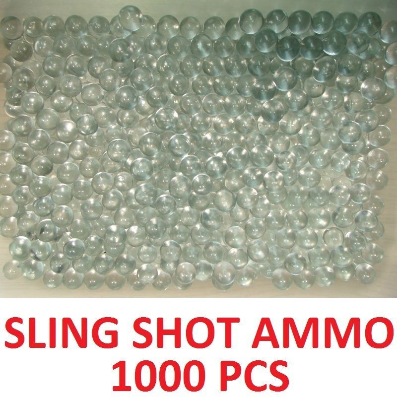 Lot of 1000 quantity solid glass marbles Perfect for sling shot ammunition Ammo