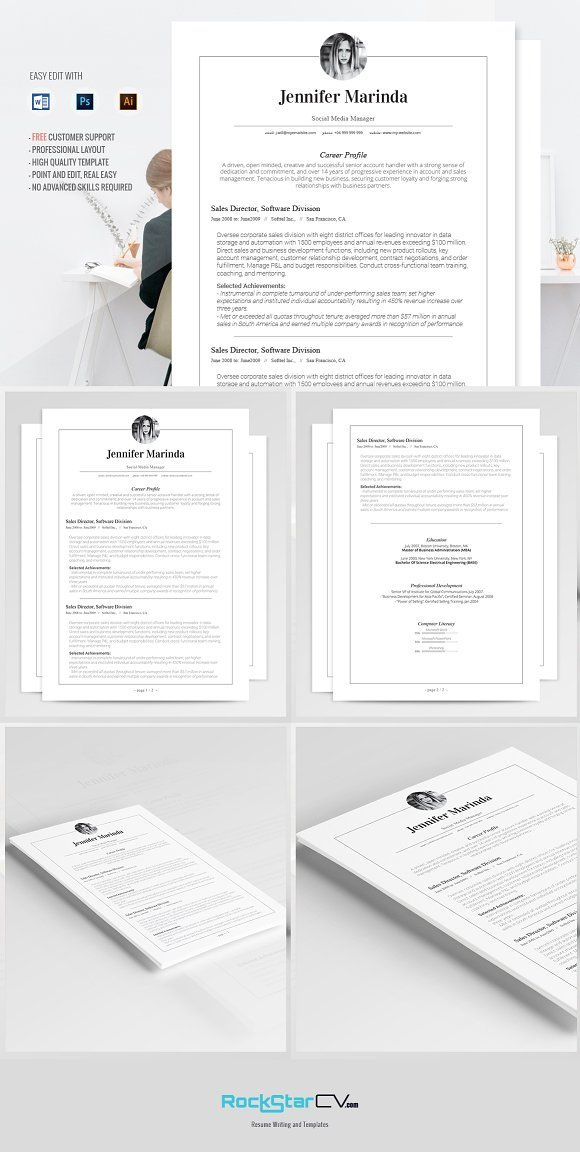 Classic Resume Template - Merinda Template, Resume cv and Business