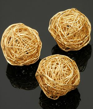 Gold Vermeil Ball of Yarn 25mm