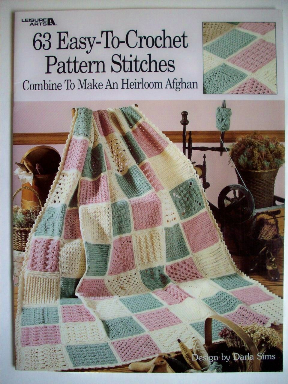 Leisure Arts 63 Easy To Crochet Pattern Stitches Combine To Make ...