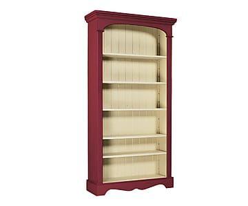 Bibliothèque, rouge et crème - H190