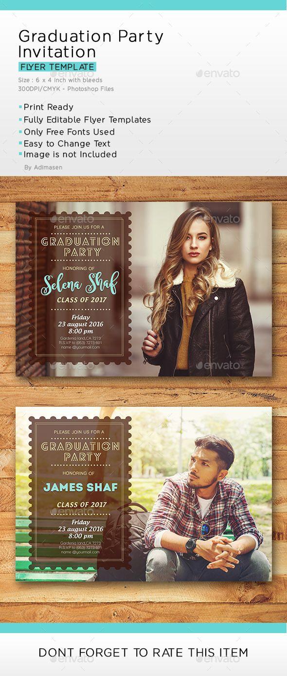 Graduation Party Invitation | Fonts-logos-icons | Pinterest | Party ...