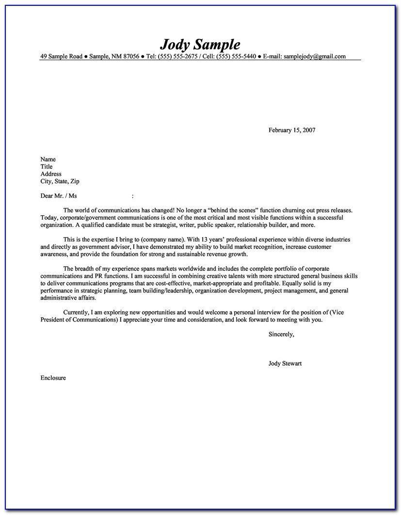General resume cover letter in 2020 job cover letter
