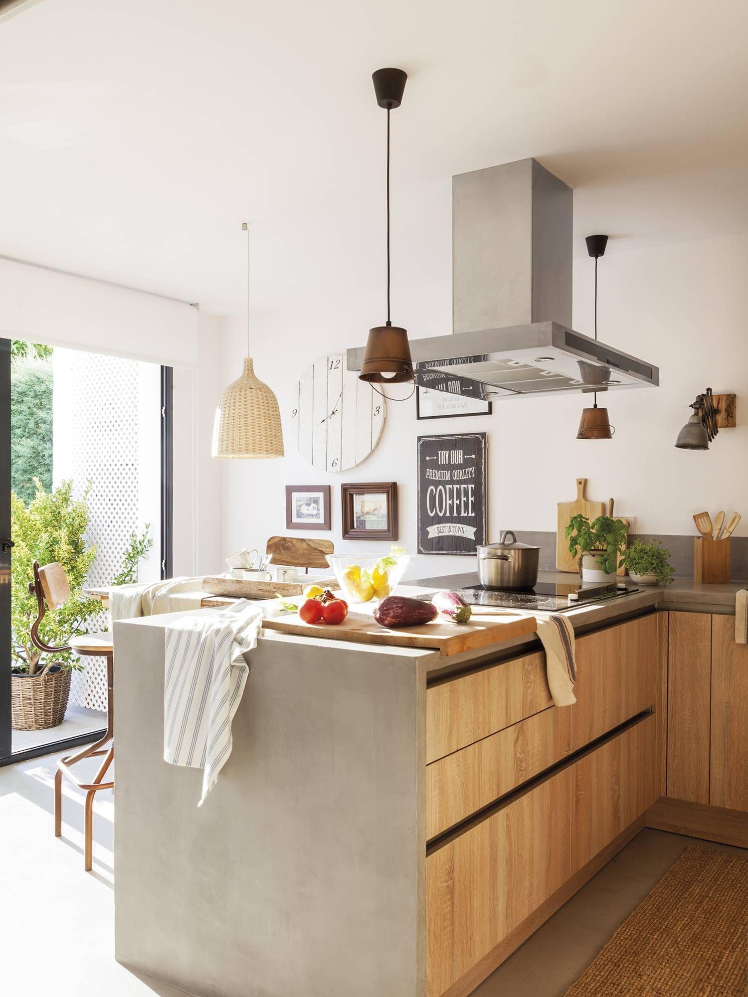 Une maison zen à Madrid  Cocina contemporánea, Diseño de cocina