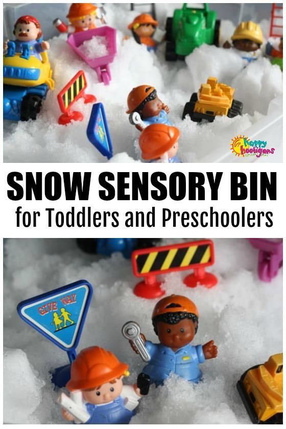 Photo of Snow Sensory Bin for Toddlers – Happy Hooligans