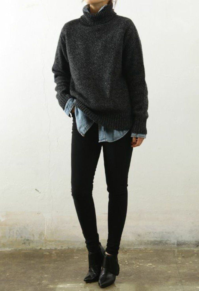 Women's turtleneck sweater – 71 outfits that keep us warm this winter – Archzine.fr