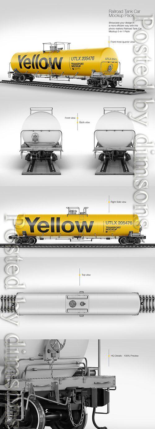 Railroad Tank Car Mockup Pack TIF (с изображениями)