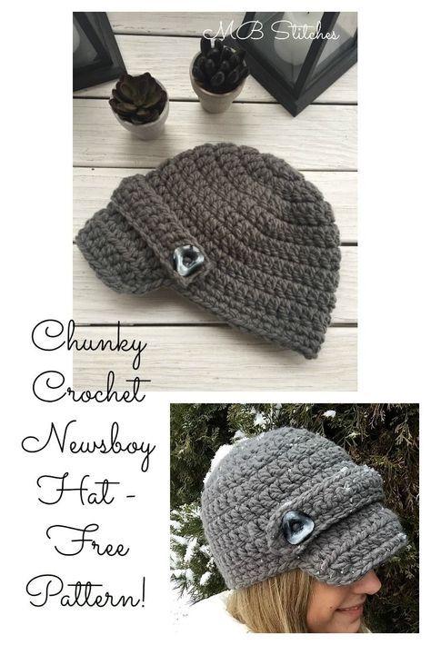 Crochet Chunky Newboy Hat Free Pattern Yarn And Such