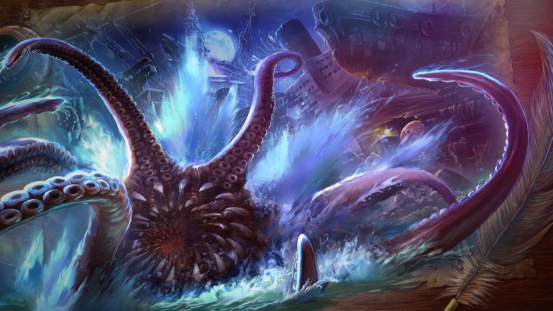 Nightmares From The Deep The Siren S Call Wallpaper Kraken Pirates Yarr Wallpaper Vox Machina Nightmare