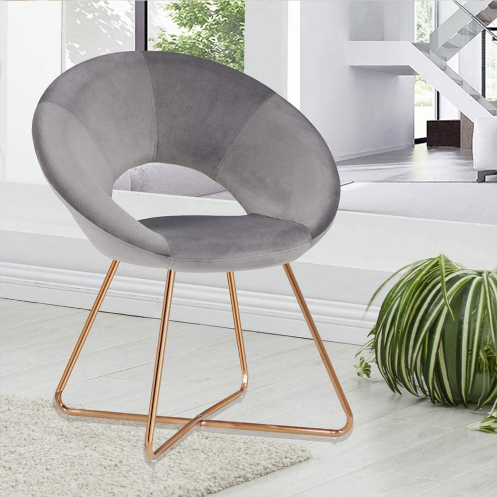 Amazon.com: Contemporary Modern Velvet Chairs Single Sofa Comfy
