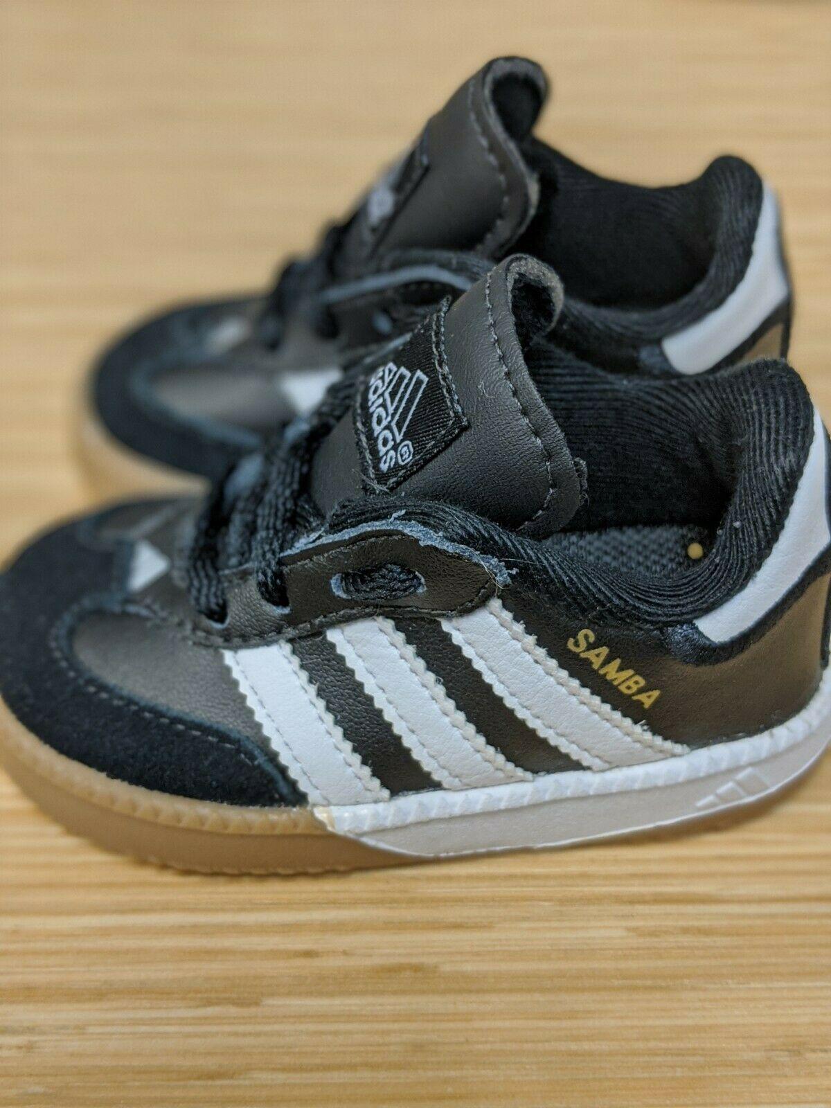 Baby Kids Toddler Adidas Samba Shoes Black White Classic