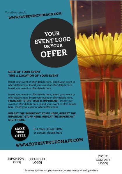 A5 Flyer Template For Your Event Promo Marketing Design Templates
