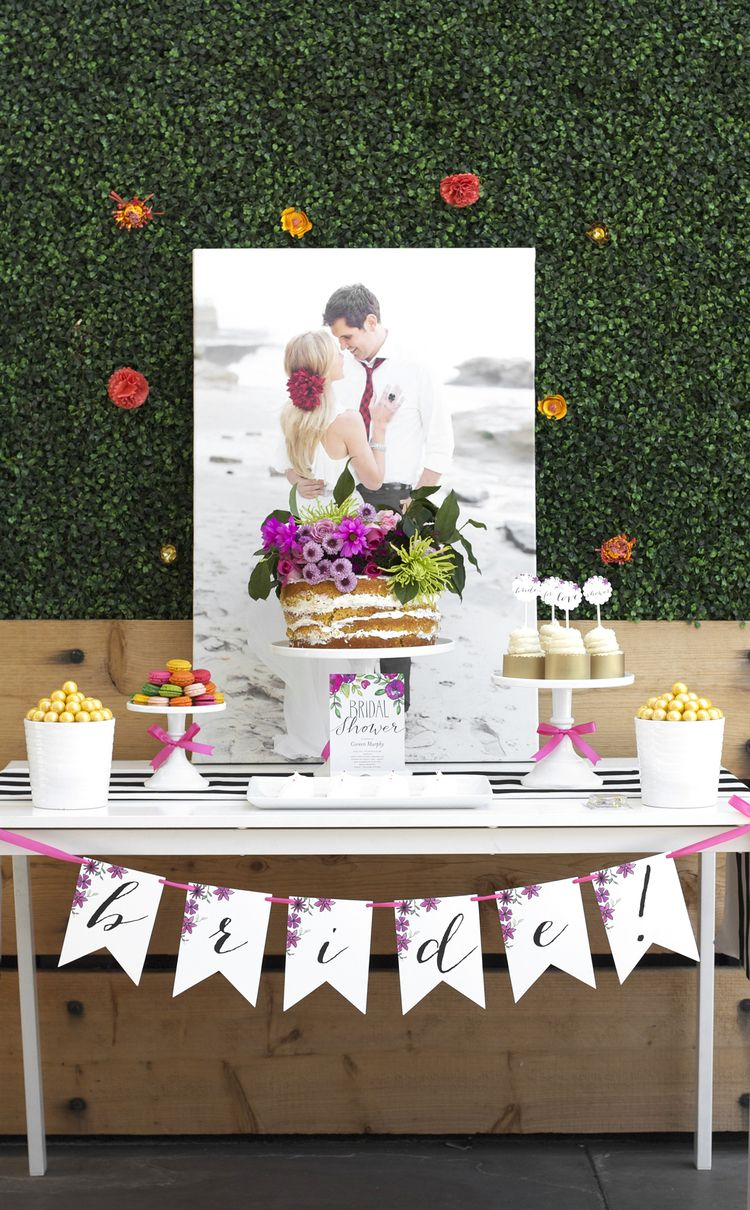 Garden party bridal shower pinterest bridal showers bridal bridal shower ideas with shutterfly canvas and invitations follow kristi on pinterest at httppinterestkristimurphydiy for more chic ideas junglespirit Images