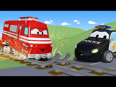 La Super Patrulla Pista Del Tren Rota Auto City Dibujos Animados De Carros Youtube Camion De Basura Carros De Construccion Carro De Policia