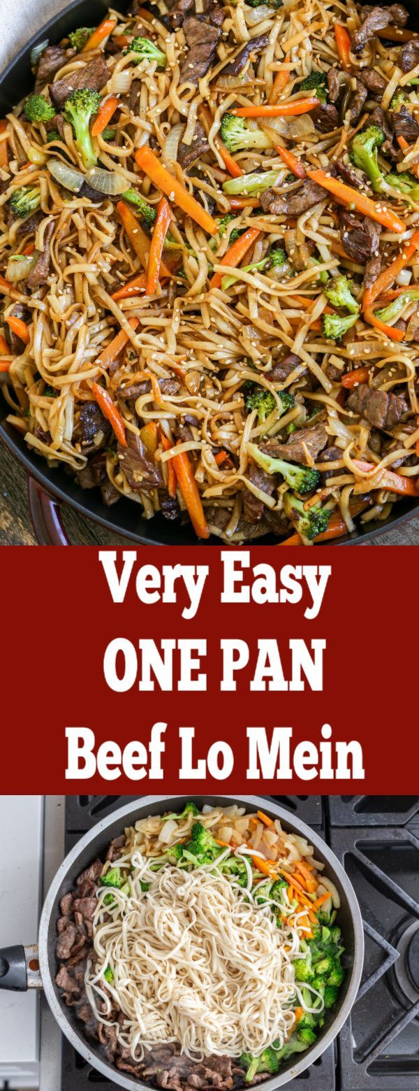 Beef Lo Mein might already be one of your go-tos when ordering Chinese takeout. Skip spending money and make this dish at home in only 30 minutes! #lemeinnoodles #lomein #steaklomein #beeflomein #lomeinrecipe #easylomein #lomeinrecipe #beefdishes