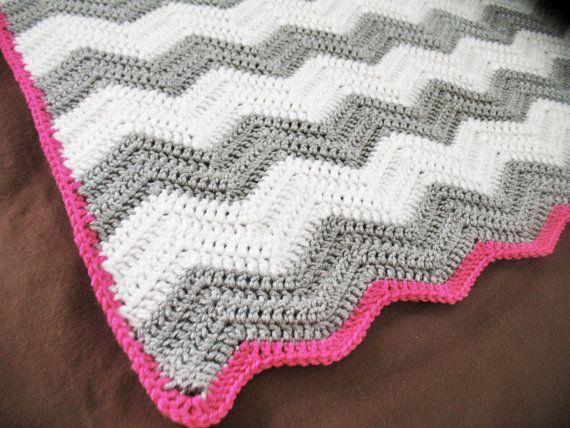 CROCHET PATTERN : Chevron crochet baby blanket pattern   Häkeldecke ...