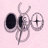 Schattenlöcher Schattenlöcher haben verschieden breit überstickte Ränder. Der breitere Rand wird innerhalb der Vorstichreihen mit Vor – oder auch Kettenstich unterlegt. Dann stickt man in stufenlosem Übergang den schmalen Rand mit Bindloch – und den breiten Rand mit Langettenstich aus.