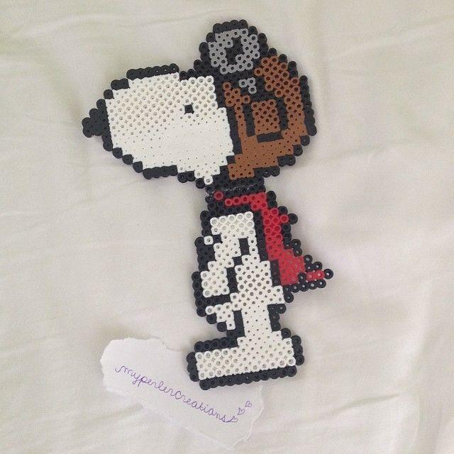 Snoopy perler beads by myperlercreations