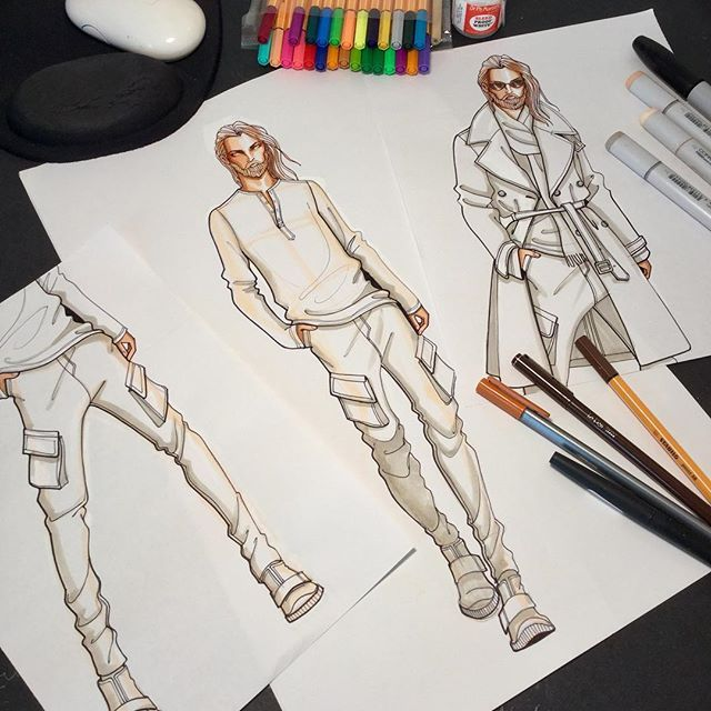 You Can Replace His Legs Position Add More Layering On His Clothes Inspiration Fashion Drawing Sketches Mens Fashion Illustration Fashion Art Illustration