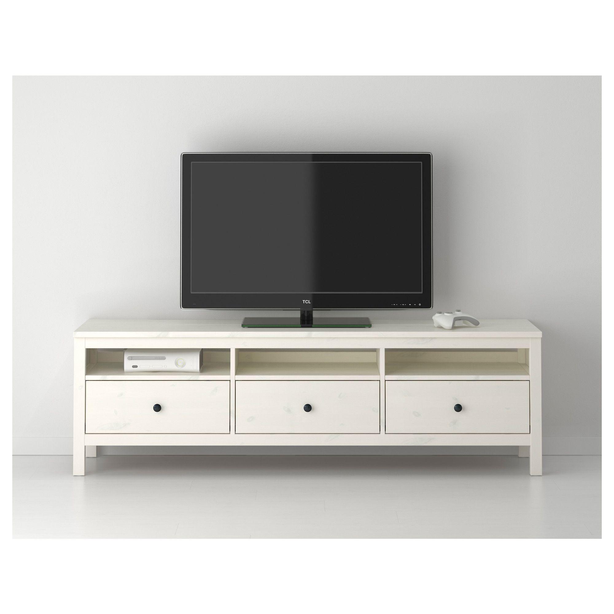 HEMNES TV bench, white stain | HEMNES, Tv bench and White stain