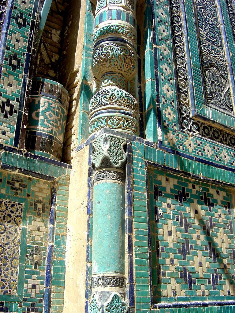 Ouzbékistan bleu et brique - LANKAART