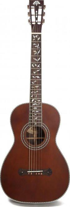 Washburn R320swrk 6 String Vintage Parlor Acoustic Guitar With