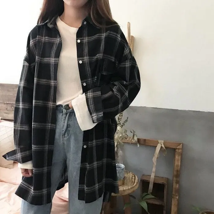 133+ flannel fall outfits style tips how to wear your favorite shirt 32 ~  Modern House Design | Fashion, Casual fall outfits, Korean outfits
