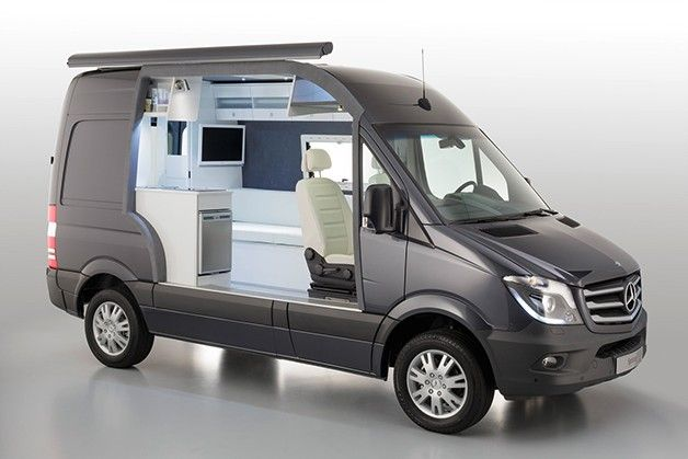 Mercedes Benz Classes Up Camper Market With Sprinter Caravan Concept Benz Sprinter Mercedes Van Mercedes Sprinter Camper