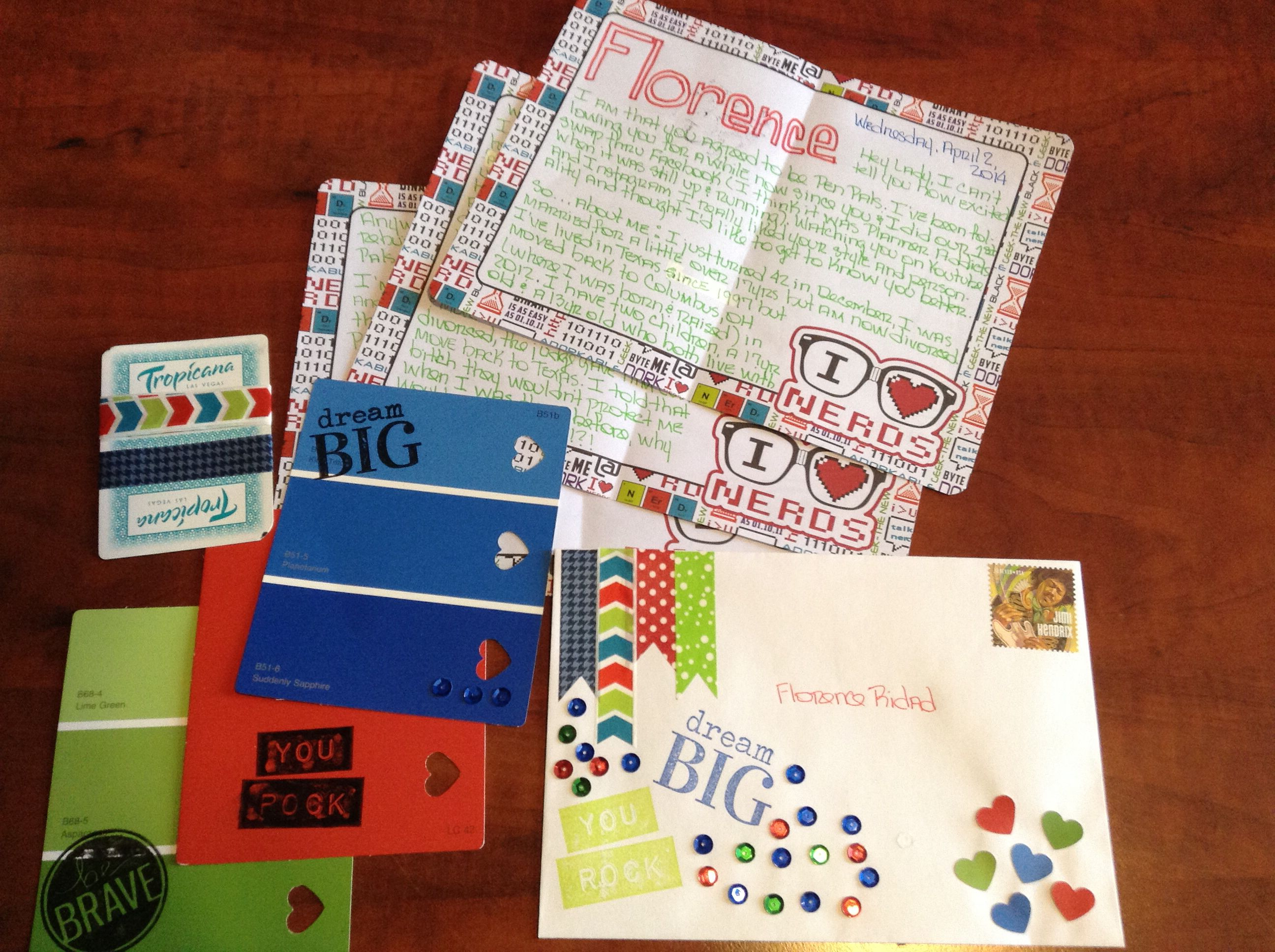 Writing to a new Pen Pal