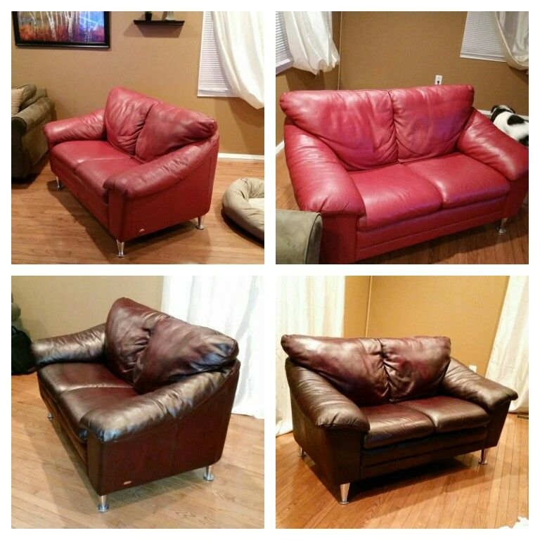 Leather Couch Dyed W 6 Feibings Leather Dye Leather Furniture