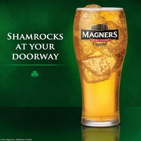 Shamrocks at your doorway - Magners!