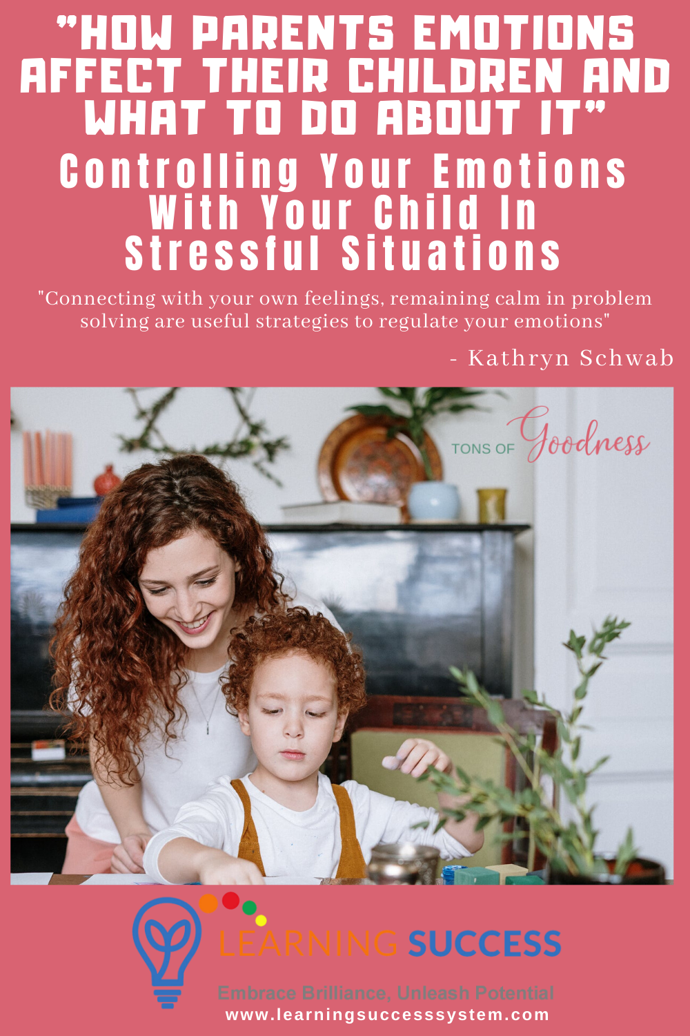 Controlling Your Emotions with Your Child in Stressful