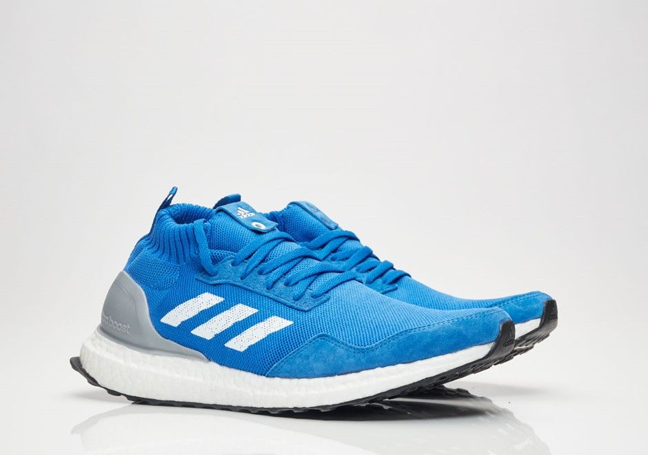 afba5bc59 adidas Ultra Boost Mid Run Thru Time Price   200 Release Date  7-18-2017  colors  Blue Blue White BY3056