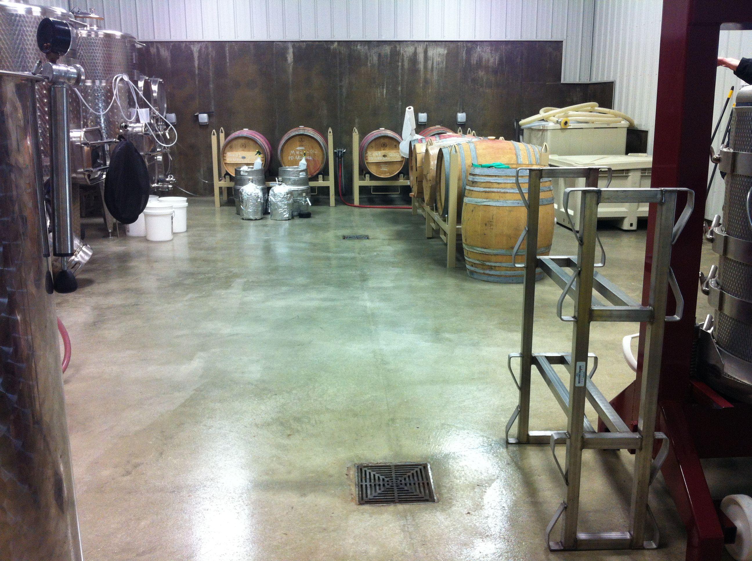 An Industrial Grade Clear Epoxy Sealer Over A Bare Concrete Floor In Local Winepress Concrete Floors Commercial Flooring Epoxy Sealer