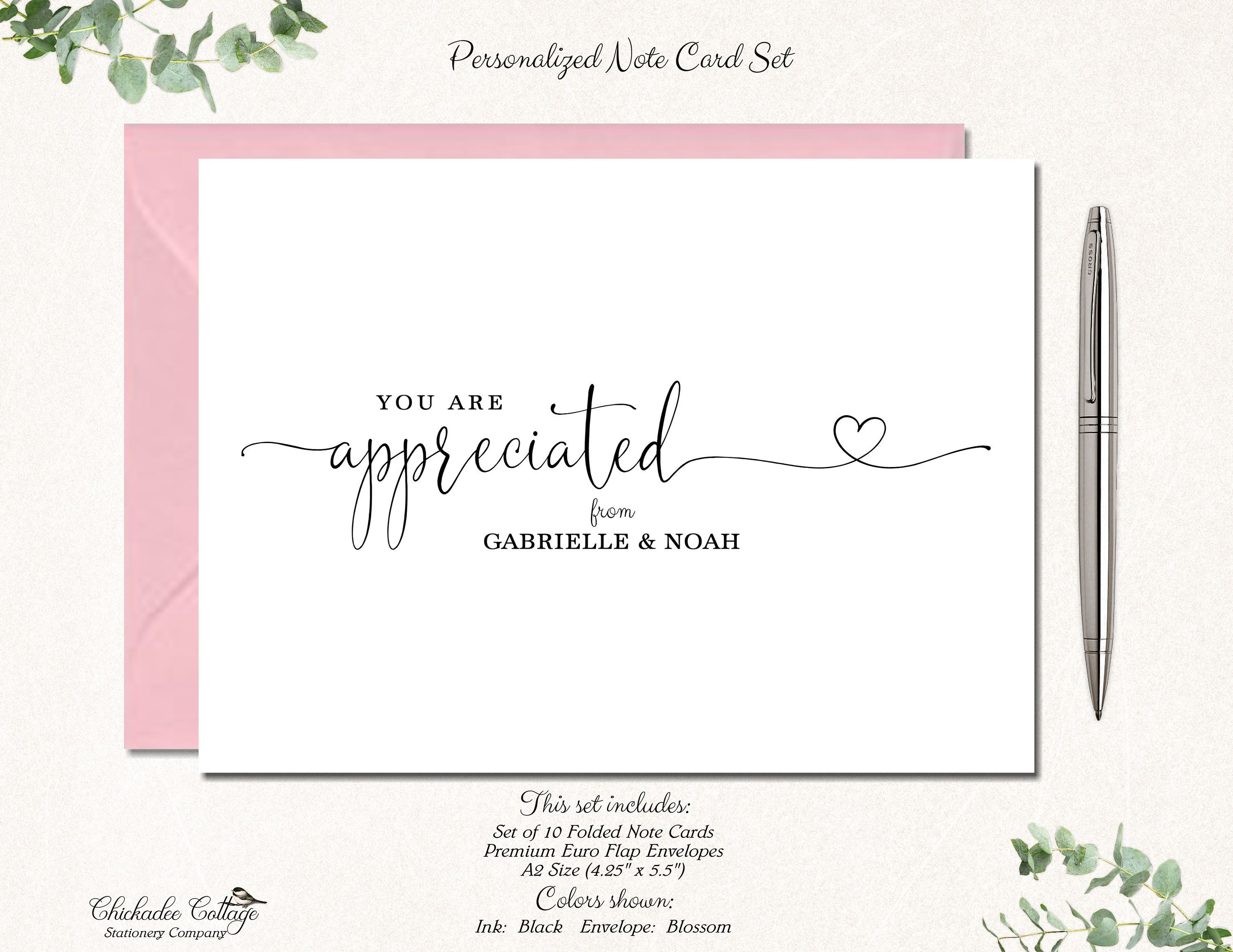 Bridal shower thank you cards wedding thank you cards