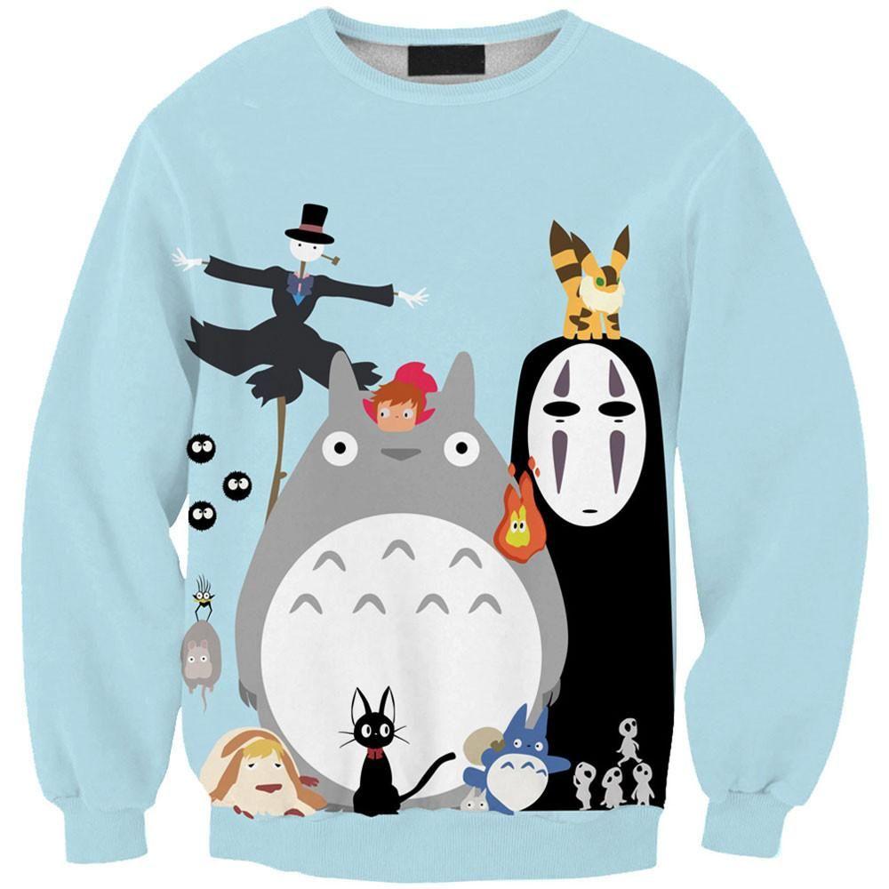 Ghibli Collection Sweatshirts Anime Sweatshirt Sweatshirt Women Winter Sweatshirts Hoodie [ 1000 x 1000 Pixel ]