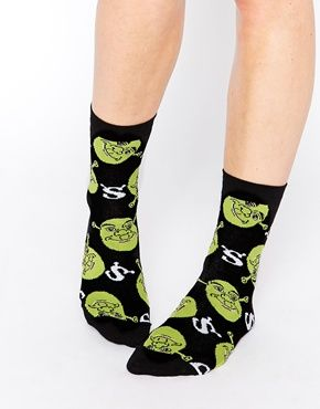 09d2075e35a220 ASOS+Ankle+Socks+With+All+Over+Shrek+Design