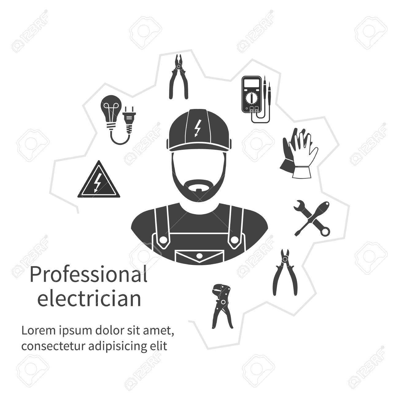 Resultado De Imagen Para Electricista Logotipo Electrician Logo Maintenance Logo Power Lineman