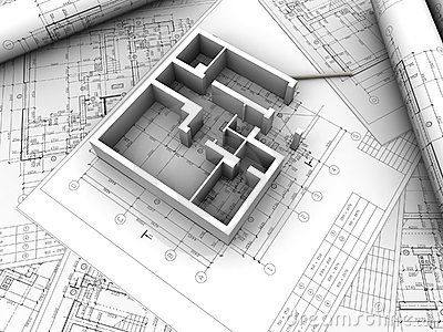 3d plan  of home  from drawing  Plan  drawing  Architecture