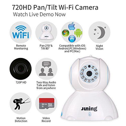 Home Wifi Wireless Security Camera System 720p Hd Pan Tilt Juning C42 Ip Camera Wireless Security Camera System Camera Surveillance System Wireless Cctv Camera