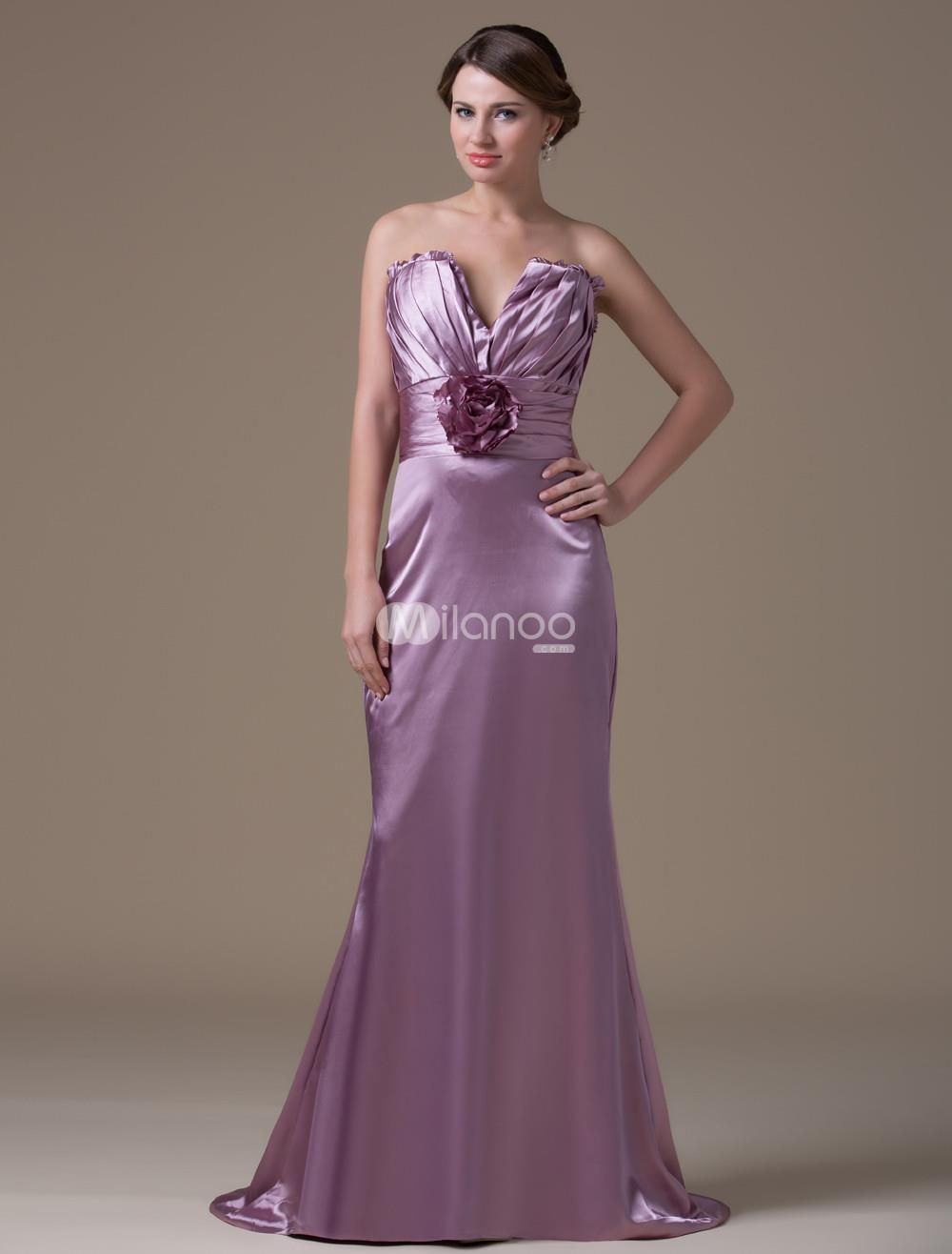 Light purple fashion aline spandex satin maternity bridesmaid dress