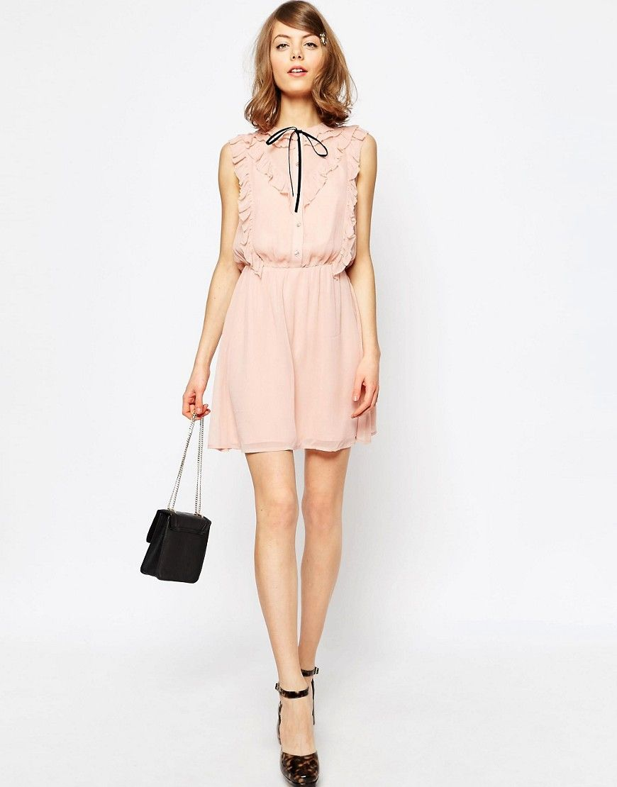 Image 4 of ASOS Frill Front Skater Dress | buy me please ...